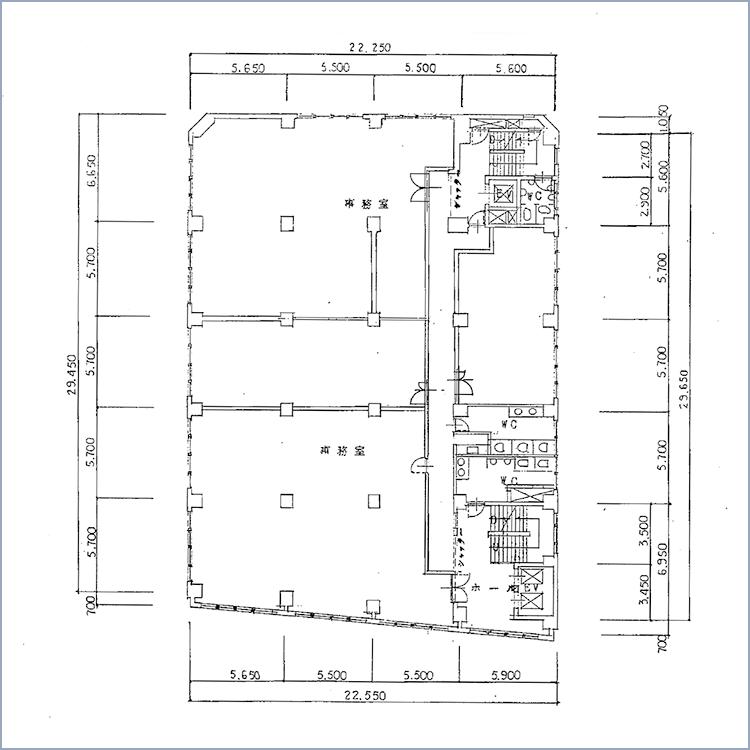 第2電波ビル 平面図
